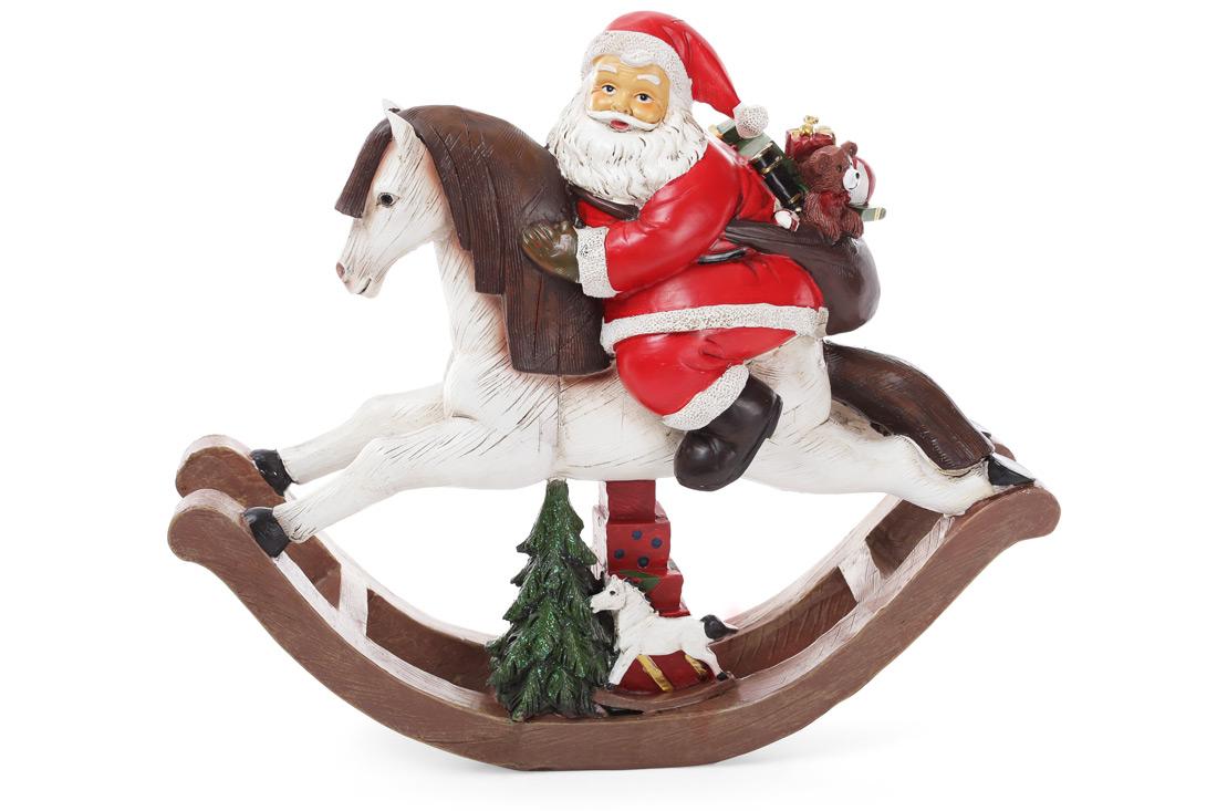 Статуэтка Санта на лошади